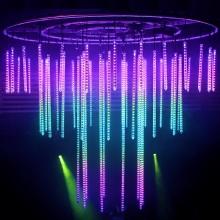 Изменение цвета красочные светодиодные люстры для сцены