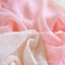 Polyester Jacquard Chiffon for Lady Dress and Shirt Cloth