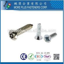 Taiwan Edelstahl 18-8 verchromt Stahl vernickelt Stahl Kupfer Messing Standard Taptite C Tite S Tite Forming Schraube