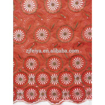 2015 New Fashion Style African Organza Lace Fabric