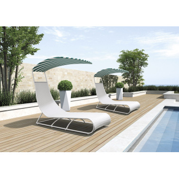 Outdoor New & Freizeit Design Rattan Sonnenlounge