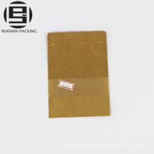 Sac en papier Kraft avec pochette de rangement pour fenêtre transparente