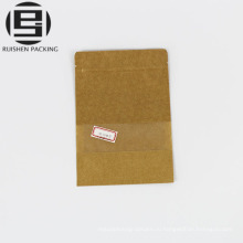 Kraft бумажный мешок с прозрачным окном чехол для хранения