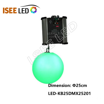 Diâmetro de 25cm da DMX Kinetic LED RGB Ball