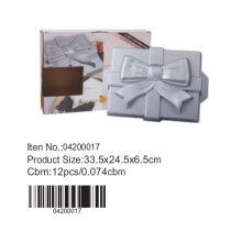 gift box shape aluminium cake pan