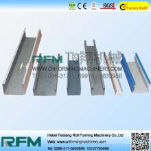 FX hebei czul channel purline roll formando linha de produção de máquinas