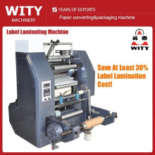 Machine de laminage thermique à rouleaux à rouleaux pour étiquettes web étroites