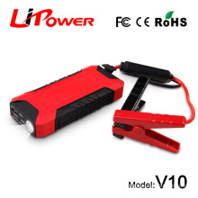 2015 high quality car battery lipo battery with intelligent clamps multifunction car jump starter with lifehammer 12000mAh