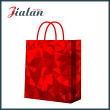 Red Shiny Film Good Quality Customize Holographic Paper Garments Bag