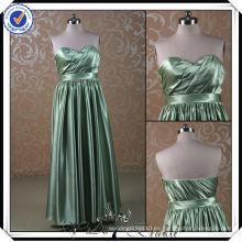 PP0115 Línea de vestido gorda de la dama de honor del país verde oliva largo de la muestra verdadera