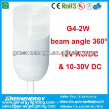 CE RoHS TUV GS aprobación alta potencia engergy ahorro gran qulity LED g4 bombilla 2w