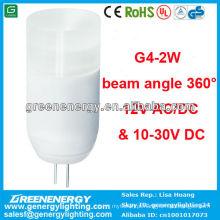 CE RoHS TUV GS aprovação de alta potência engergy saving great qulity LED g4 lâmpada 2 w