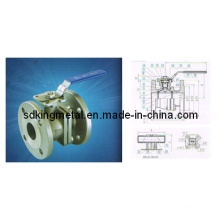 800wog Stainless Steel 316 2PC Flanged Ball Valve (DIN)