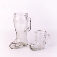 600ml plain beer glass mug in the shape of a boot on sale