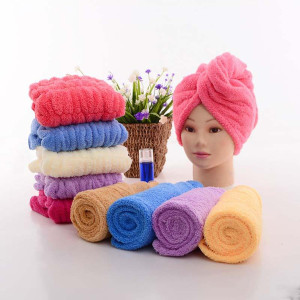 Women  Coral Fleece Hair Dry Towel