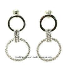 925 pendientes de plata 925 pendientes de la joyería de la manera de la plata esterlina Pendientes hermosos de la alta calidad pendientes redondos dobles E6314
