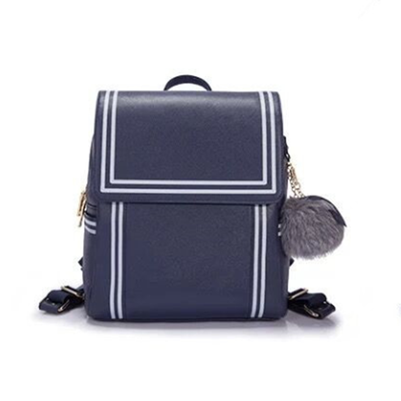 Navy Wind Stripe Backpack