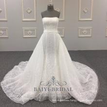 Sexy Wholesale Alibaba Elegant Strapless A-Line Wedding Dress Latest vestidos de novia