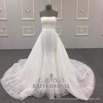 Sexy Wholesale Alibaba elegantes trägerloses A-Line Hochzeitskleid Neueste vestidos de novia