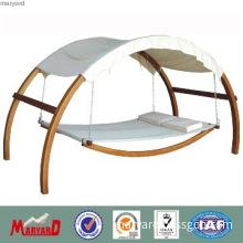 Patio furniture teak wood garden swing hammock