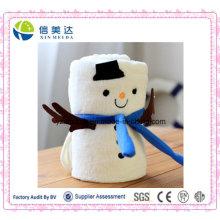 Melhor Presente para Crianças Natal Coral Fleece Snowman Blanket