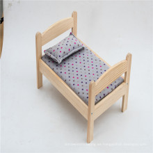 Cama de madera hecha a mano de madera maciza de alta calidad para mascotas