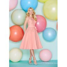 Vente en gros de bonne qualité New Cheap Lace Chiffon Short A Line Robes de demoiselle d'honneur LBS02