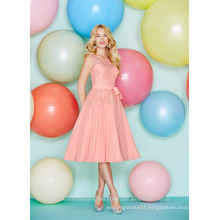 Wholesale Good Quality New Cheap Lace Chiffon Short A Line Bridesmaid Dresses LBS02