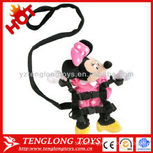 High Quality Safe Lovely Mini Mouse plush doll with baby walking belt