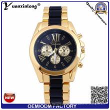 Yxl-771 Womens Miyota Chonograph Uhren Herren Design Ihre eigene Uhr Edelstahl Back Watch