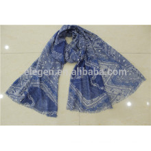 In Stock Geometric Figure Polyester Printed Scarf