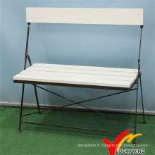 Back Design Folding Vintage Outdoor Park Chaise de banc de jardin
