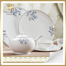 Porcelain hotel dinnerware, fine bone china ceramic hotel porcelain tableware