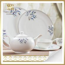 Louça do hotel da porcelana, louça de porcelana cerâmica do hotel da porcelana fina do osso