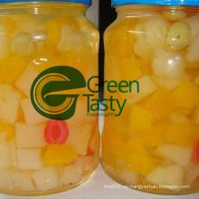 Cóctel de frutas mezcladas / tropicales enlatadas en luz o L / S
