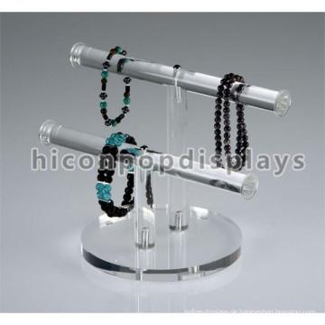 Schmuck-Shop Counter Top Display Ständer, transparent Acryl 2-Halter Braceket Ring Schmuck Rack