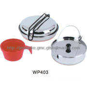 1-person stainless steel portable outdoor cook set