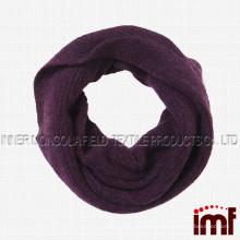 Женщины Твердые 100% чистого кашемира бесконечности круг петли шарф