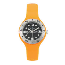Orange silicone band watches for women
