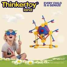 Geométrico colorido de plástico duro deformado interior de juguete