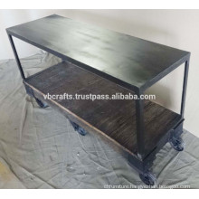 Industrial Side Table cast iron