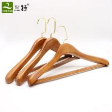 hochwertiger Hotel-Kleiderschrank-Kleiderbügel aus Buchenholz