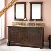 Fed-6043 Cabinet de salle de bains en bois massif en vanité de salle de bain de haute qualité