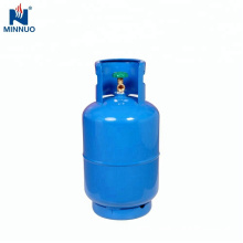 With valve 25LBS dominica steel lpg gas propane cylinder bottle