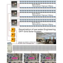 Dessalement de l'eau de mer Ingénierie solaire OFF-Grid Solar System