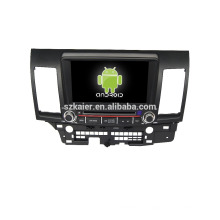 Quad-Core! Auto-DVD mit Spiegel Link / DVR / TPMS / OBD2 für 8-Zoll-Touchscreen-Quad-Core 4.4 Android-System MITSUBISHI LANCER