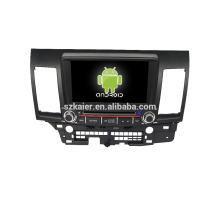 Quad core! Dvd do carro com link espelho / DVR / TPMS / OBD2 para 8 polegada tela sensível ao toque quad core 4.4 sistema Android MITSUBISHI LANCER
