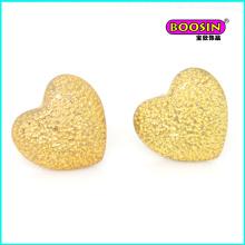 High Quality Custom Made Wholesale Fashion Heart Gold Stud Earring