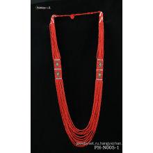 Классическая бисером ожерелье