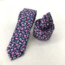 Dernières Slim gros Mens Coton Floral Marine Improt Cravate